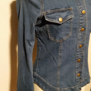 NEW Free People Fitted Womens Denim Jacket - Large